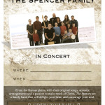 Spencer Family Music Poster TEMPLATE